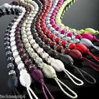 2 X Lila Perlen Vorhang Drapiert Lang Raffhalter 76.2cm - 76CM