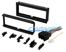 NEW CAR STEREO RADIO CD PLAYER DASH INSTALLATION TRIM KIT WITH WIRING HARNESS