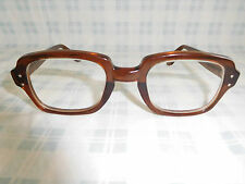 Vintage Halo 4 1/2 Root Beer Brown Sunglasses Eyeglasses Frame 60s 70s 80s Nerd