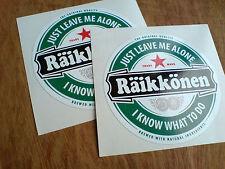 KIMMI RAiKKONEN F1 Fans Just Leave Me Alone Stickers Decals 2 off 83mm