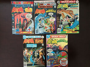 Lot of Five (5) DC The Brave and the Bold Batman Comics #'s 128-138