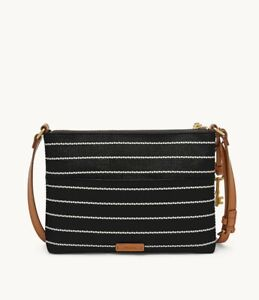 *NWT* Fossil Fiona Small Crossbody Bag, Black & White - Hearts, Item: ZB7270005