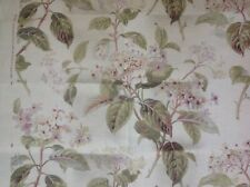 "COLEFAX AND FOWLER CURTAIN FABRIC ""ELOISE"" 97CM 100% LINEN IVORY/GREEN"