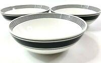 Lenox Concord Square Soup Cereal Bowls Set of 3 Kate Spade Porcelain NEW!