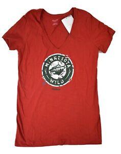 Reebok Womens NHL Minnesota Wild Hockey Shirt NWT L