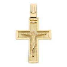 Kreuz Anhänger Jesus 750 Gold Herren Damen Schmuck Korpus 18 Karat H11.1487