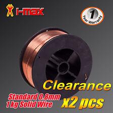 Standard Solid Wire Gas MIG Welding Welder wire 1kg 0.8mm x 2pcs