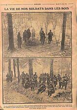 Soupe Brasero Poilus Forêt de l'Argonne Bataille de Champagne Tranchées WWI 1915