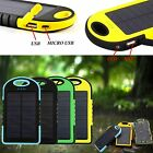 PORTABLE 5000MAH WATERPROOF SOLAR CHARGER POWER BANK FOR IPHONE SE
