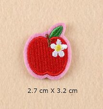 APPLE EMBROIDERED FABRIC APPLIQUE SEW IT / IRON ON PATCH BADGE