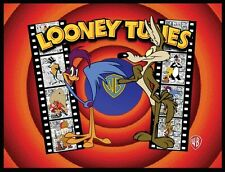 ROADRUNNER, WILE E. COYOTE FRIDGE MAGNET # 5. 4X5.  LOONEY TUNES FILM LOGO
