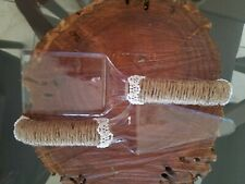 Rustic wedding Cake Server Set (clear and  strong plastic)   Length: 11""
