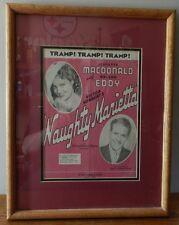 "1910 ""Naughty Marietta"" Victor Herbert Sheet Music American Theater framed"