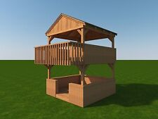 Build your own 2 Story Playhouse Fort (DIY Plans) Fun to build Cubby!!