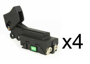 (4) Trigger Switch 24/12A-125/250V for Makita 651172-0, 651121-7, 651168-1
