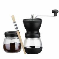 Manual Coffee Grinder with Storage Jar ,Soft brush , Conical Ceramic Burr Q
