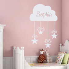 Girls Name Decal Kids Wall Decals Nursery Cloud Stickers Star Bedroom Decor DR15