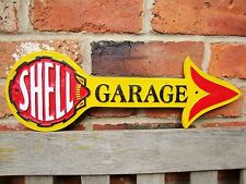 SHELL GARAGE ARROW Sign Cast Sign Oil Petrol Vintage Garage Sign Man Cave VAC112