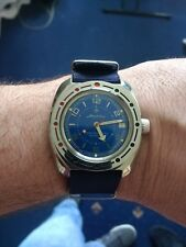 Vostok Amphibia watch Russian made with original bracelet, box and papers