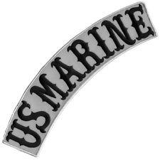 "VEGASBEE® US MARINE REFLECTIVE EMBROIDERED DECORATIVE PATCH TOP ROCKER 12"" USA"