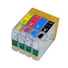 Refill Set CISS + Tinte für Epson T0711 - T0714 + Nachfülltinte kein OEM T0715
