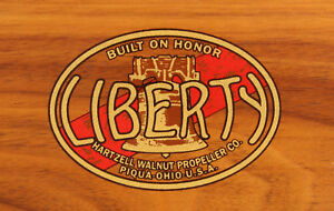 Liberty Propeller Decal  CHOICE 2 Sizes Water Slide set of two