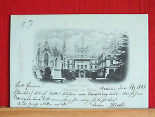 Mondscheinkarte - Schloss Eisgrub / Lednice - Umgebung Brünn - gel 1898