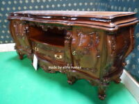 BESPOKE Any Colour / Size Baroque Chatelet® hand carved mahogany wood TV Cabinet