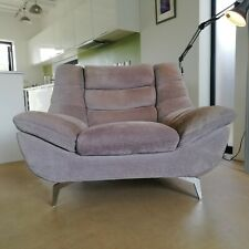 Oversized Retro style Egg Shape Armchair Snuggler sofa on chrome legs
