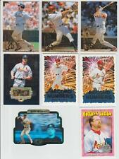 Mark McGwire 1998 UPPER DECK WONDER YEARS INSERT & 1996 SPX GOLD CARD & OTHERS