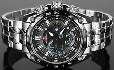 Imported Casio Edifice Black Steel Red Bull Luxury Men's Watch-EF-550D-1AV