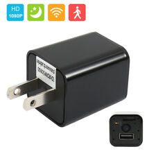 HD 1080P WIFI Wireless Family Hidden Spy Camera USB Wall Charger Night Vision .