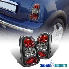 For 2002-2004 Mini Cooper S Tail Lights Rear Brake Lamps Black