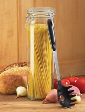 Global Amici Glass Spaghetti / Pasta Jar with Pasta Spoon      NEW