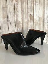 H&M Studio Collection 2014 Black Patent Leather Mules Slides Slip On Heels EU 40