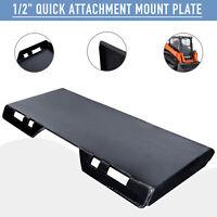 "1/2"" Quick Attachment Mount Plate Steel for Bobcat Kubota Skidsteer Tractor"