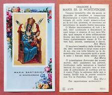 Santino Holy Card: Maria Santissima di Montevergine - Ed. EB 2/279