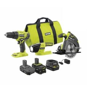Ryobi PCK101KN 18V One+ Lithium Ion Cordless 3 piece Combo Kit - BRAND NEW !!!!!