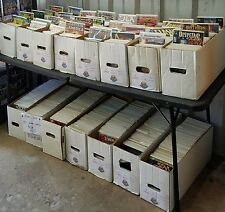 1 box lot 50 OLD COMICS MARVEL DC hulk flash superman x-men  avengers wholesale