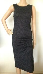COTTON ON Black Grey Fine Knit Stretch Long Body Con Dress Size XS