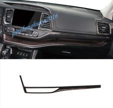 Carbon Fiber Dashboard Center Console Cover Trim For Toyota Highlander 2015-2019