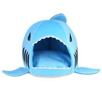 Unique Shark Mouth Pet Dog Cat House Removable&Washable Dog Bed Cushion M