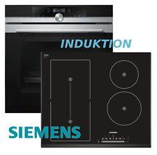 Siemens Herdset Autark Herd Backofen Autom.Pr. + Induktion Kochfeld Flexi Zone