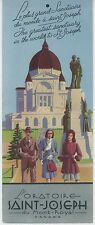 1930s St. Joseph Oratory of Mt. Royal Travel Brochure Montreal Quebec Canada