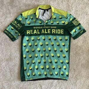 Specialized Real Ale Full Zip Bike Biking Bicycle Jersey Medium