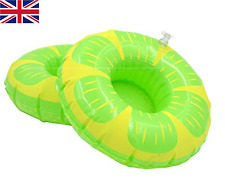 Inflatable Lemon Floating Drink Can Cup Holder Hot Tub Swimming Pool Party Bath