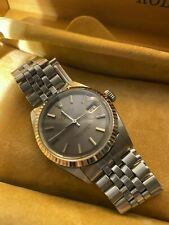 Rolex Datejust Mens Stainless Steel 1601 With Grey/purple Dial