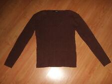 *H&M Pullover Gr. L braun V-Ausschnitt*