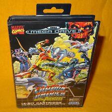 Vintage 1993 SEGA Mega Drive Captain America and the Avengers Marvel Game PAL