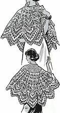 787 Vintage Laura Wheeler LACY CAPE/SHAWL Pattern to Crochet (Reproduction)